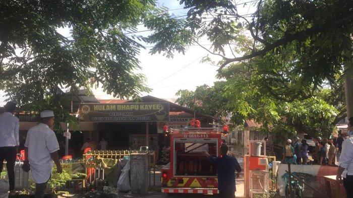 Duka di Hari Raya Idul Fitri, Dapur Kafe Kulam Kupi di Kuta Alam Terbakar