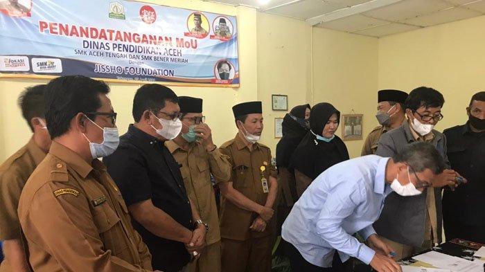 SMK Se-Aceh Tengah dan Bener Meriah Tanda Tangani MoU dengan Jissho untuk Magang ke Jepang