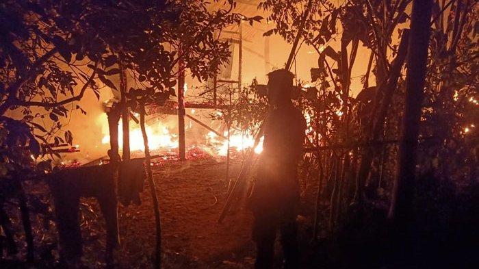 Ekses Rumah Terbakar, Tiga Kepala Keluarga Mengungsi di Aceh Utara