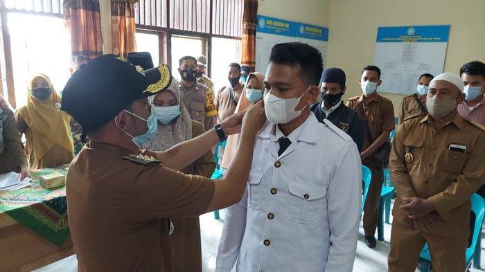 Camat Birem Bayeun Lantik Keuchik Blang Tualang, Ini Pesan Bupati Aceh Timur