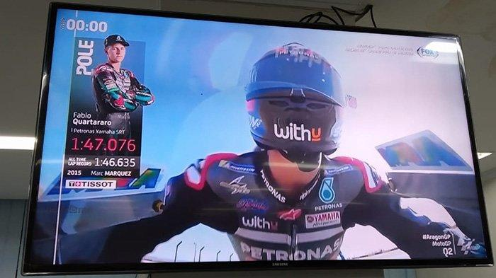 Hasil Kualifikasi MotoGP Aragon 2020 - Fabio Quartararo Raih Pole Position, Start di Depan Vinales