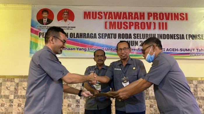 Terpilih Aklamasi, Faisal Saifuddin Kembali Pimpin Pengprov Perserosi Aceh