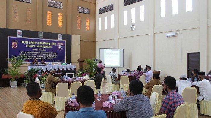 Polres Lhokseumawe Gelar Focus Group Discussion, Bahas Perkembangan Covid-19 di Aceh