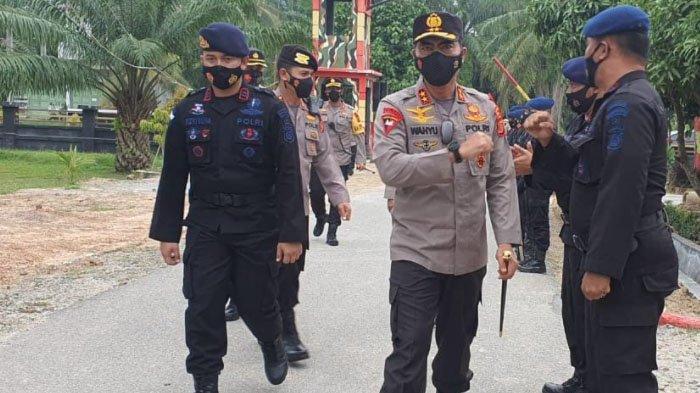 Usai Cek Pos Perbatasan Aceh-Sumut, Kapolda Aceh Singgah ke Mako Brimob Aramiah