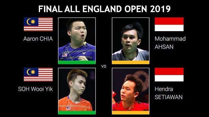 Head to Head Finalis All England Open 2019 - Ahsan/Hendra Unggul 2-0, Ada yang 11 Kali tanpa Balas