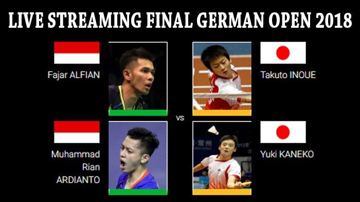 LIVE STREAMING Final German Open 2018 - Satu-satunya Wakil Indonesia Fajar/Rian Siap Rebut Juara