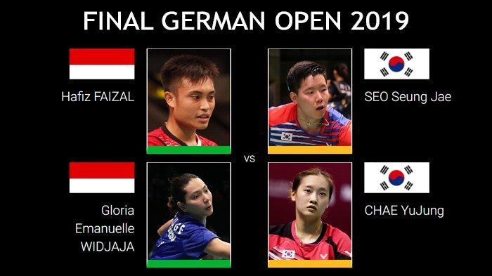 Sedang Berlangsung Live Streaming Final German Open 2019 - Selangkah Lagi Hafiz/Gloria Jadi Juara