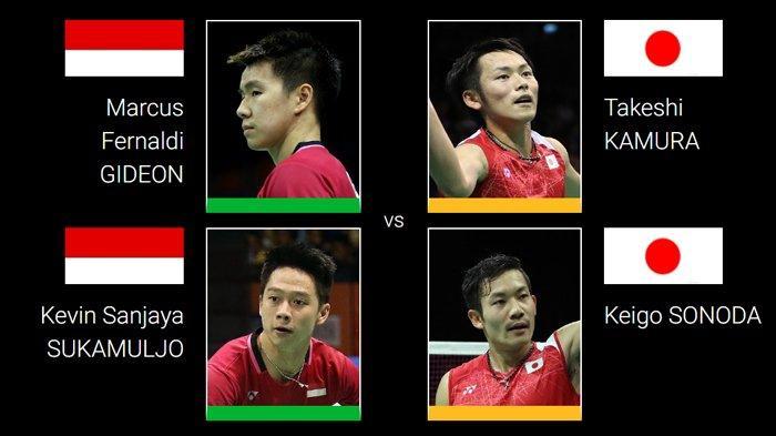 Live Streaming Final Hong Kong Open 2018 - Marcus/Kevin Vs Kamura/Sonoda Pukul 18.30 WIB