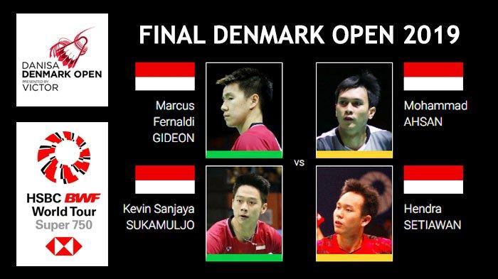 Jadwal Final Badminton Denmark Open 2019 - Indonesia Pastikan Gelar Juara Ganda Putra