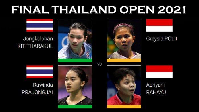 Hasil Semifinal Thailand Open I 2021 - Indonesia Kirim Dua Wakil ke Babak Final, Anthony Terjegal
