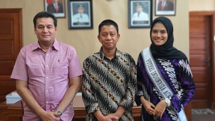 Saat Beraudiensi, Ini Pesan Sekdako Lhokseumawe Pada Finalis Putri Indonesia 2020 Perwakilan Aceh