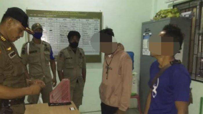 Dua Pemabuk Digelandang ke Kantor Satpol PP dan WH, Diamankan Saat Asyik Minum Tuak