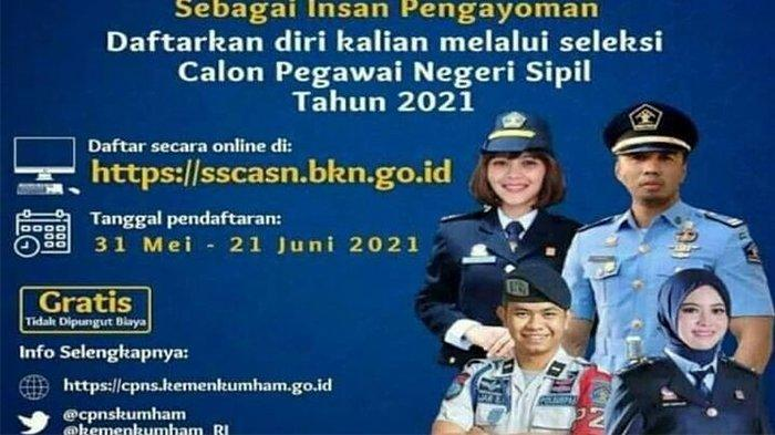 Ramai Tersebar Flyer Rekrutmen CPNS Kemenkumham 2021, Hati-Hati Penipuan! Ini Informasi Resminya