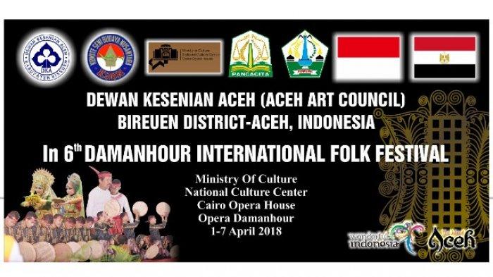 Tim Kesenian Bireuen Wakili Indonesia di Pentas Kesenian Internasional di Mesir