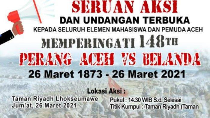 Besok, Massa di Lhokseumawe Peringati 148 Tahun Perang Aceh Lawan Belanda