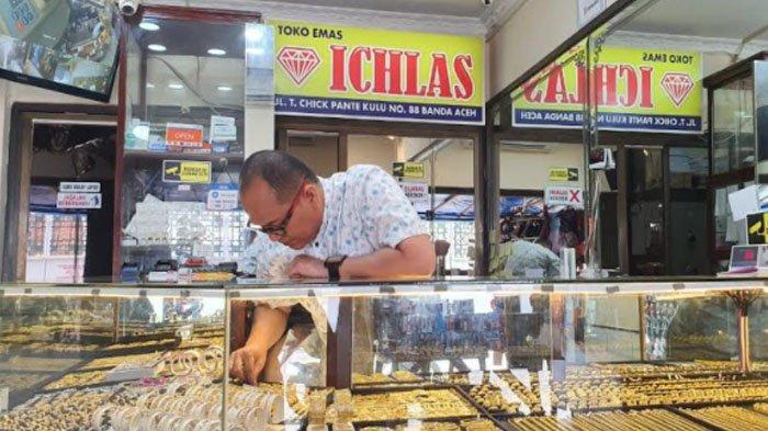Harga Emas di Banda Aceh Turun Picu Transaksi Pembelian Meningkat, Ini Kisaran Harganya Per Mayam