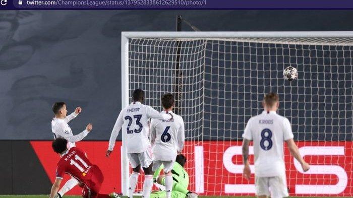 Hasil Liga Champions - Liverpool Terjungkal di Markas Real Madrid, Vinicius Junior Tampil Menggila