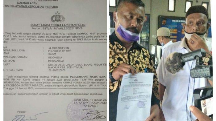 Merasa Difitnah, Ketua Umum FORBA Laporkan Akun Facebook SM ke Polda Aceh