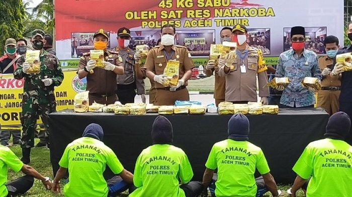 Bupati Rocky Apresiasi Polres Aceh Timur Ungkap Kasus Sabu 45 Kg