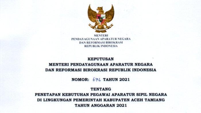 Guru Kelas & Penjasorkes Bersiap,Ada Ratusan Formasi PPPK 2021 di Pemkab Aceh Tamiang,Ini Rinciannya