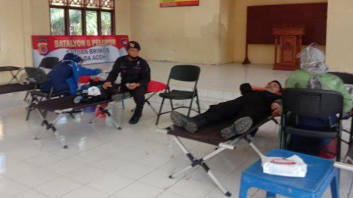HUT Ke-75 Korps Brimob Polri, Satbrimob Polda Aceh Gelar Donor Darah