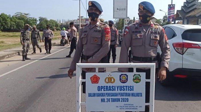 Brimob Aceh Bersama Tim Gabungan Gelar Operasi Yustisi di Lhokseumawe, 12 Orang Terjaring