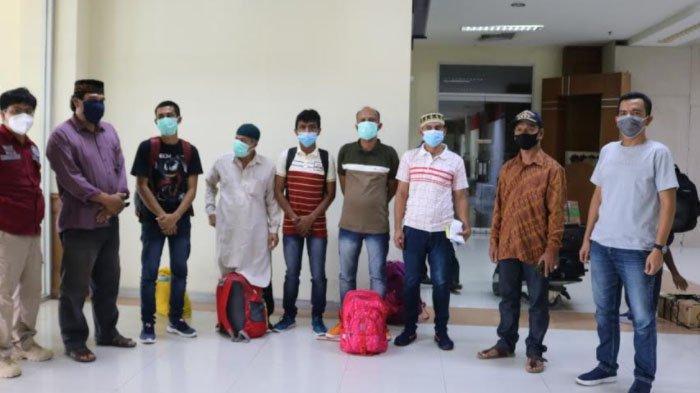 Lima Nelayan yang Dibebaskan India Tiba di Aceh