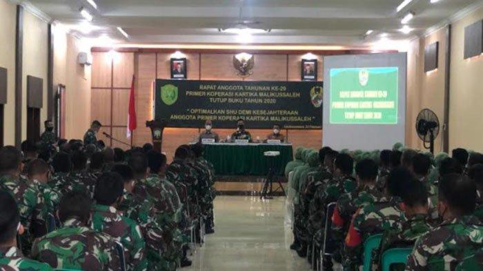 Dandim Aceh Utara Minta Koperasi Tingkatkan Kesejahteraan Prajurit di Tengah Pademi Covid 19