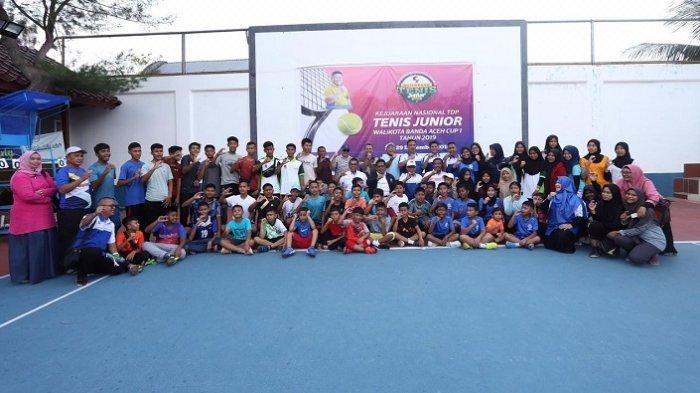 Ini Petenis Masuk Semifinal dan Final Kejurnas Tenis Junior Wali Kota Banda Aceh Cup I 2019