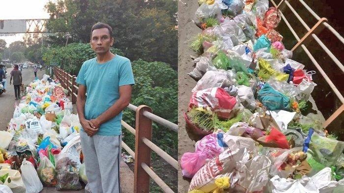 Viral Foto Pria Berdiri di Tumpukan Sampah dari Pagi Sampai Malam, Terungkap Fakta di Baliknya