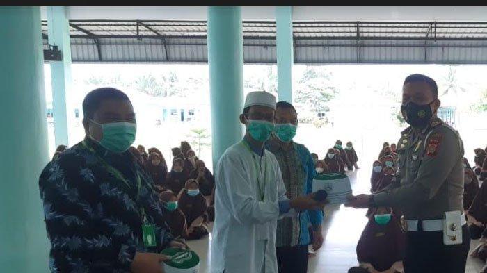 Satlantas Polres Aceh Utara Sosialisasi Tertib Lalu Lintas ke Dayah Terpadu Al Muslimun