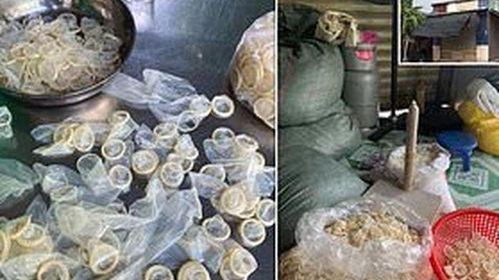 Terbongkar, Polisi Temukan 340.000 Kondom Bekas Dicuci Ulang Kemudian Dijual Kembali