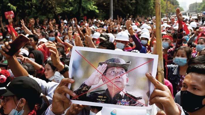 Militer Junta Myanmar Makin Tertekan, Jutaan Rakyat Protes ke Jalan Hingga Tekanan Negara Barat