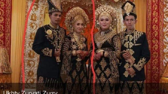 Korban diduga pasangan pengantin yang sebelah kiri (Istimewa via Serambinews)