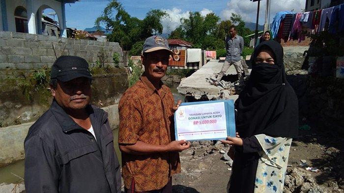 Yayasan Cahaya Aceh Salurkan Donasi untuk Korban Banjir Takengon, Ini Sasaran Bantuan