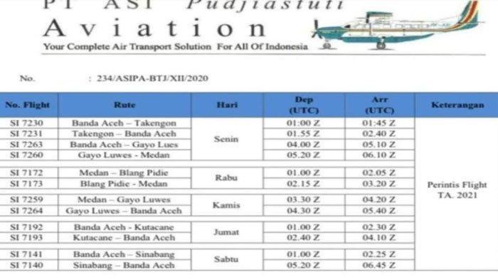 Catat, Ini Jadwal Penerbangan Pesawat Susi Air Medan-Aceh