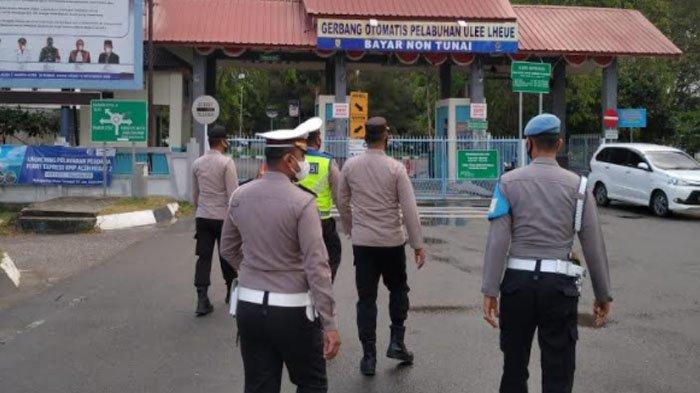 30 Orang Terjaring Razia Masker di Pelabuhan Ulee Lheue Banda Aceh