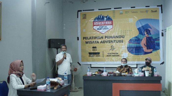 Pelatihan pemandu wisata pendakian Gunung Burni Kelieten, Kabupaten Aceh Tengah 12 -14 Maret 2021 di Aceh Tengah.