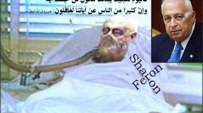 Kisah Kutukan Ariel Sharon, Jenderal Israel Pembantai Rakyat Palestina 8 Tahun Hidup Koma & Membusuk