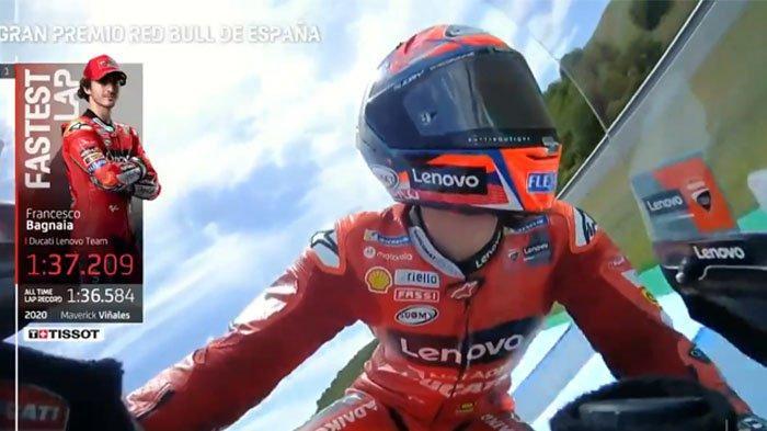 Hasil MotoGP Spanyol 2021 - Francesco Bagnaia Geser Posisi Fabio Quartararo di Menit Akhir FP 2