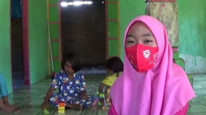 Kisah Saskia, Gadis Yatim Piatu yang Jadi Penggembala Sapi dan Pungut Kelapa Demi Nafkahi 4 Adiknya