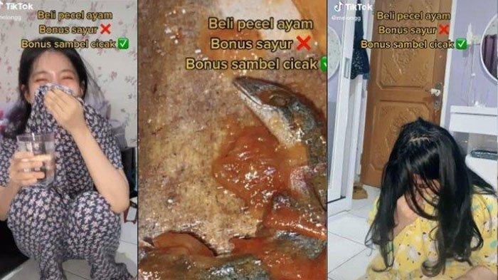 Bikin Mual, Gadis Ini Temukan Cicak di Sambal saat Makan Pecel Ayam: Kaget dan Muntah