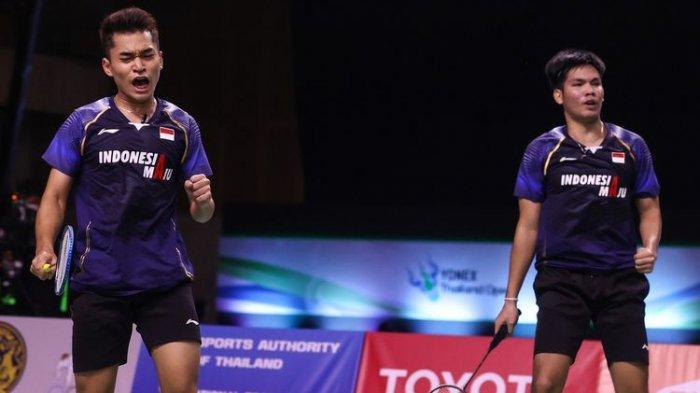 Hasil Thailand Open 2021 - Indonesia Kirim 4 Wakil ke Semifinal, Leo/Daniel Kalahkah Senior Inggris
