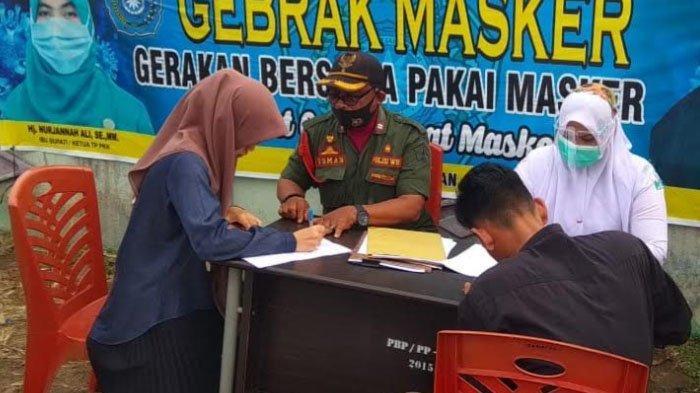 Pemkab Bireuen Gelar Razia Masker dalam Rangka Sosialisasi Yustisi Protokol Covid-19