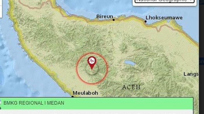 Nagan Raya Diguncang Gempa 4,4 SR