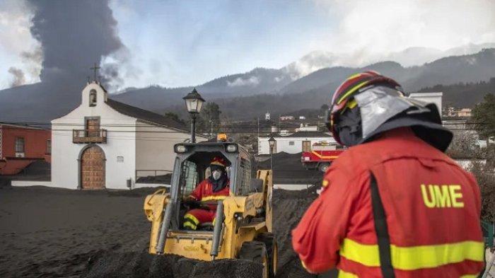 Gempa Kuat dari Letusan Gunung Berapi Guncang Kepulauan Spanyol