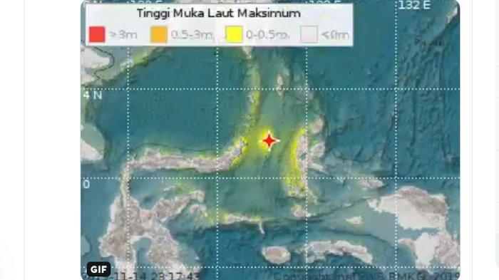 INFO BMKG: Tsunami Terdeteksi di Ternate dan Bitung, Ekses Gempa Sulut Magnitudo 7,1