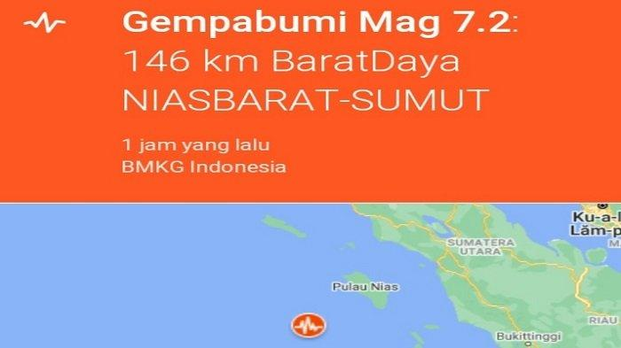 Gempa Bumi Bermagnitudo 6,7 Kagetkan Warga Pulau Nias, BNPB Imbau Masyarakat Siap Siaga