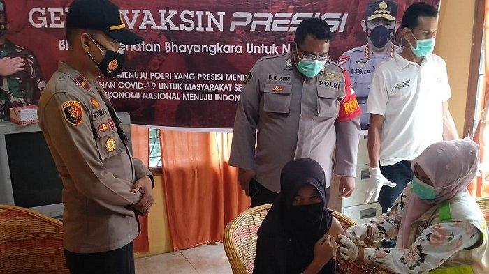 Polres Aceh Utara Gelar Vaksinasi Covid-19 di Pedalaman Cot Girek, 300 Warga Disuntik