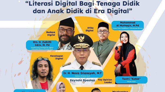 Gerakan Literasi Digital Digelar di Bireuen, Gubernur Nova Jadi Pembicara Kunci
